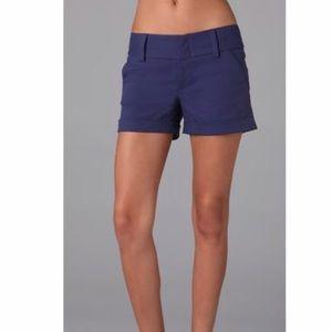 Alice + Olivia Purple Cady Cut Off Shorts size 8